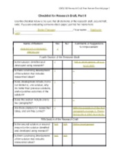 Flanagan_Wk 7 Checklist Research Draft Part II Peer Review