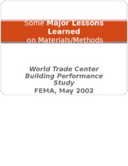 1.5  WTC Major Lessons Learned.ppt