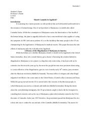 Should cannabis be legalized essay.doc