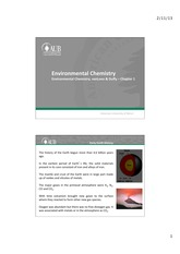 Chapter 1 - Environmental Chemistry