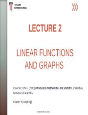 LEC 02_student_Linear Functions, Graphs  Simultaneous Equations.ppt