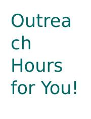 Outreach Hours for You.docx