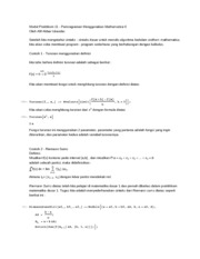 Modul Praktikum 6 - Programming using Mathematica 2
