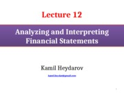 FR_Lecture 12_Analyzing and Interpretation of Financial Statements