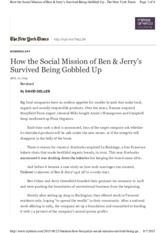 How the Social Mission of Ben  Jerry's Survived Being Gobbled Up