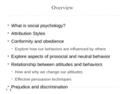 chapter ???- social psychology