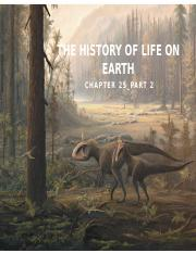 Ch.25 (Part 2) History of Life