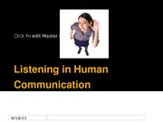 Ch 4 Listening in Human Communication