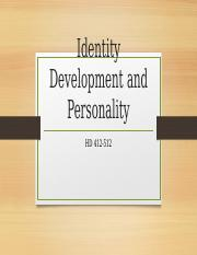 SV Identity Development and Personality 4.pptx