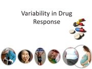 Drug variability lecture Bb