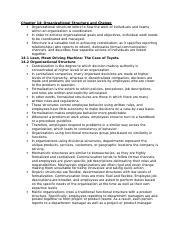 Ch. 14 notes - MGMT452