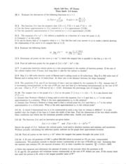 Math 100 Dec 97 Questions