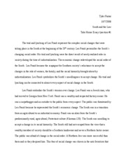 Southern law take home essay 1