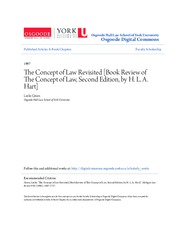 The Concept of Law Revisited [Book Review of The Concept of Law