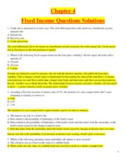 Chapter 4 - Fixed Income - Questions Solutions
