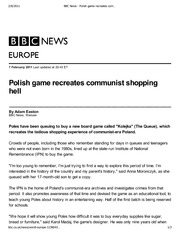 BBC News - Polish game recreates communist shopping hell