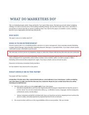 WHAT DO MARKETERS DO (1)
