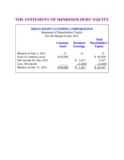 THE STATEMENT OF SHAREHOLDERS