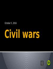 Lecture 10~Civil Wars II Fall 2016