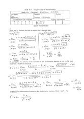 Math 119 2011-2012 Spring  Final Exam Solutions