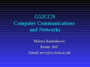 G52CCN Lecture Notes