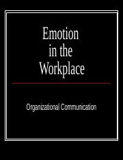 Emotion in the Workplace.ppt