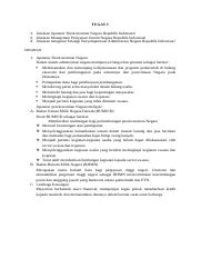 Tugas 3.docx - 1 Jelaskan Aparatur Perekonomian Negara ...