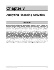 Chapter3 Analyzing Financing Activities