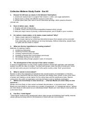 Collective Midterm Study Guide - Soc 63 part 1