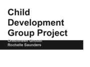 Child  Development  Group Project