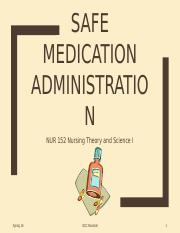 Spring 16-Safe Medication Administration-Student