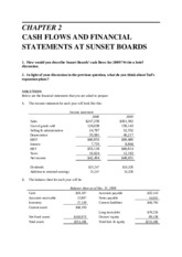 CHAPTER 2. CASH FLOWS AND FINANCIAL STATEMENTS AT SUNSET BOARDS