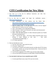 CITI Certification for New Hires.docx