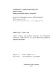 Master's Thesis, Timucin Yilmaz