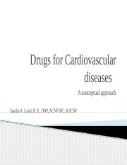 Drugs for Cardiovascular diseases