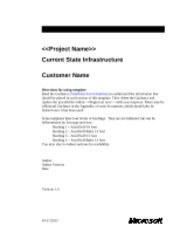 Current State Infrastructure Assessment