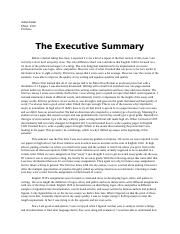 Exec Summary; North Texas; College Writing ...  Exec Summary Example