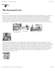 "The Seasonal Cycle â€"" North American Indians"