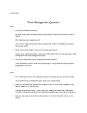 Time management WS