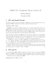 CMPT 710 BPP and Small Circuit Notes