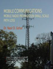 11. Ch-5 Mobile Radio Propagation-Small Scale Path Loss