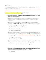 Assignment 2 financial planning.doc