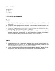 BMGT 322 Job Design Assignment Fall 2016.docx