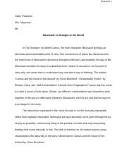 the stranger essay james borland the stranger essay the inner  4 pages the stranger essay