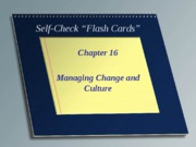 Self Check Chapter 16