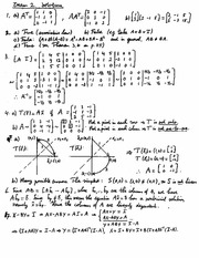 Exam 2 Review Solution on Linear Algebra