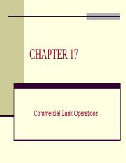 4341 ch 17 - Commercial Banking
