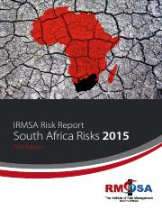 South Africa Risks 2015