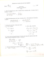 MAT 050 Unit 2 Quiz Answers