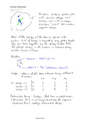IB CHEM 11 Atomic Structure Notes